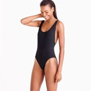 J Crew Plunging Scoopback One Piece Swimsuit